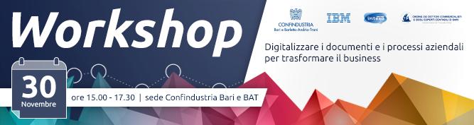 Workshop - Digitalizzare i documenti e i processi aziendali per trasformare il business